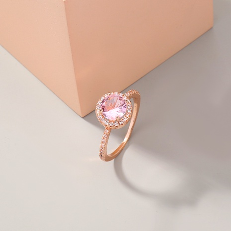 simple fashion new style round full diamond zircon ring NHAN347655's discount tags