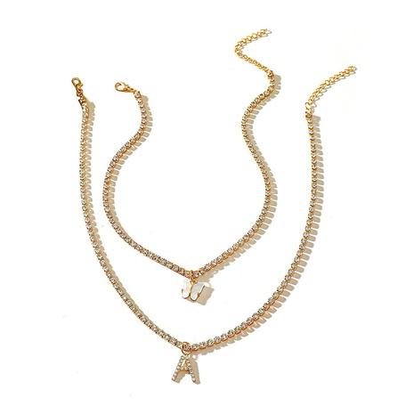 Mode Strass Schmetterling Brief mehrschichtige Legierung Halskette Großhandel NHMO347676's discount tags