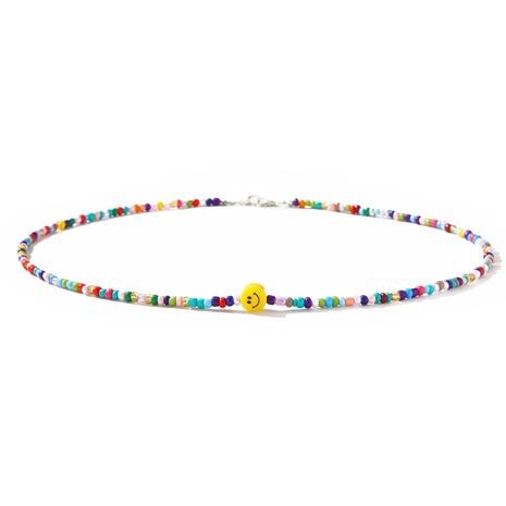 einfache handgemachte Perlen Smiley-Brille Kette Großhandel NHMO347706's discount tags