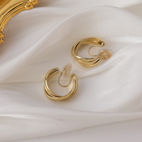retro fashion simple style C-shaped ear clips NHMS347718's discount tags