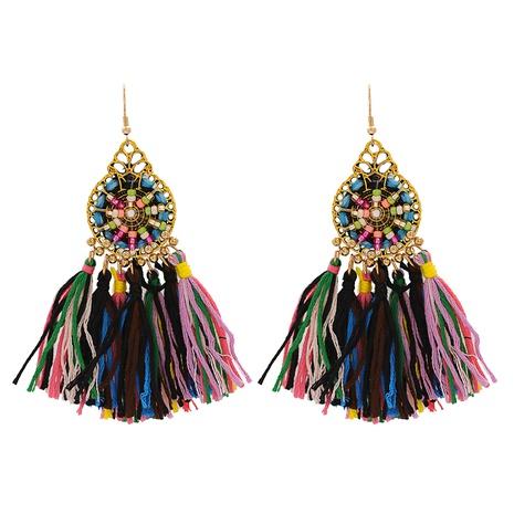 Bohemian tassel alloy earrings wholesale NHJJ347743's discount tags