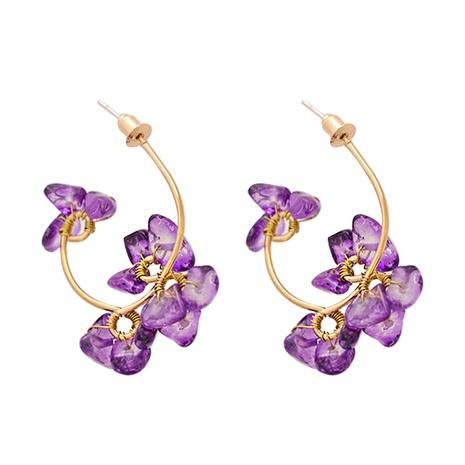 Fashion stone flower geometric resin earrings wholesale NHJJ347745's discount tags