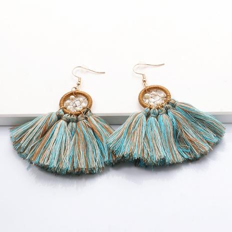 Bohemian pearl tassel alloy earrings wholesale NHJJ347748's discount tags