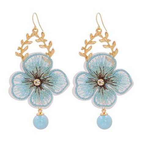 Bohemian Flower Mesh Petal Earrings Wholesale NHJJ347750's discount tags