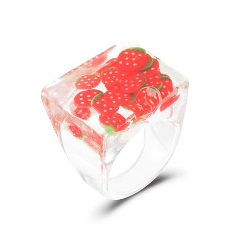 einfache transparente Frucht quadratischen Acrylring Großhandel NHDP347807's discount tags
