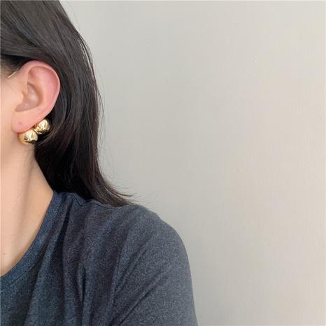 Fashion metal ball single earrings wholesale NHYQ347866's discount tags