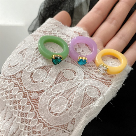 Großhandel koreanischen Edelstein Bonbon Farbe transparenten Acrylring NHYQ347898's discount tags