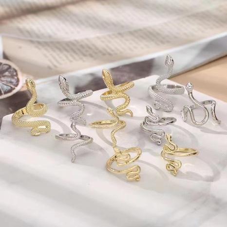 moda retro serpiente moda simple anillo exagerado NHGO347916's discount tags