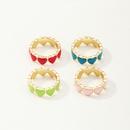 simple colorful multiple heart ring wholesale  NHAI347963