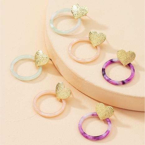 Korea heart-shape acrylic earrings wholesale NHAI347968's discount tags