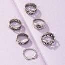 wholesale fashion geometric carved alloy ring set  NHGU347983