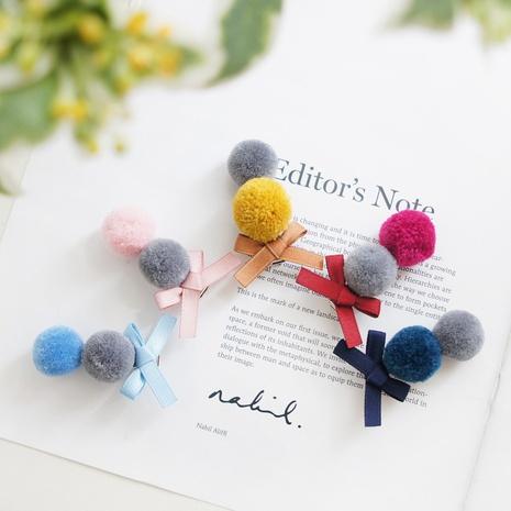 Horquilla de lazo lindo bicolor coreano de moda NHAYP348034's discount tags
