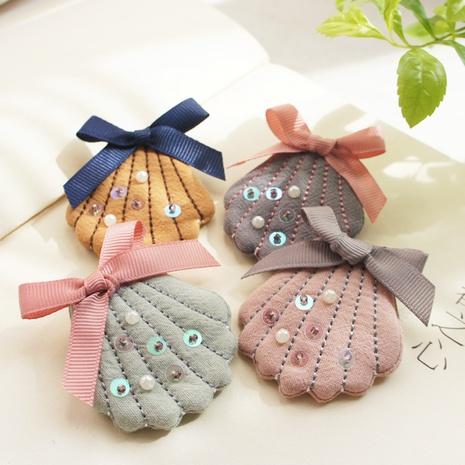 Pinza de pelo linda de las vieiras de los granos de lino del algodón de los niños de Corea NHAYP348043's discount tags