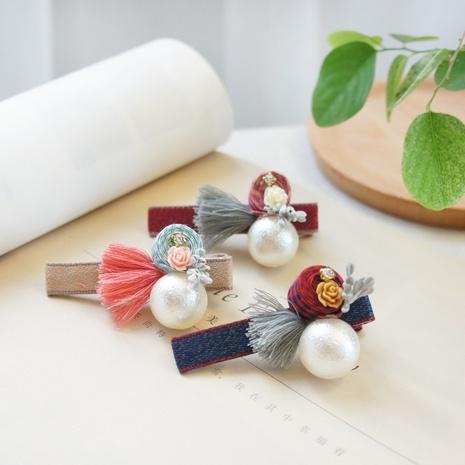 Horquilla linda de la perla de la nueva flor del estilo de la moda coreana NHAYP348053's discount tags