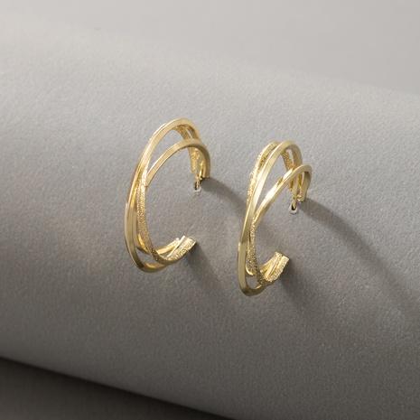Boucles d'oreilles en forme de C en forme de demi-cercle géométrique irrégulier NHGY348818's discount tags