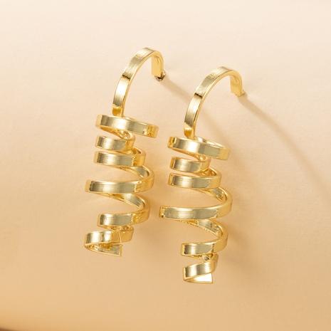 nouveau style de mode boucles d'oreilles simples en spirale géométrique irrégulière NHGY348820's discount tags