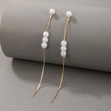 Boucles d'oreilles en tandem en tandem de perles de style simple coréen NHGY348865's discount tags