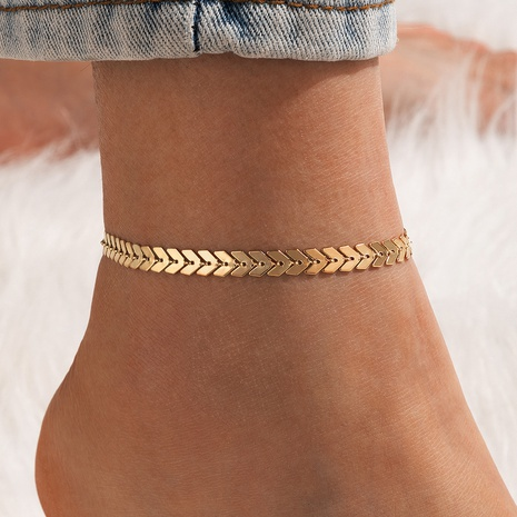 fashion bohemian airplane chain punk metal anklet NHGY348849's discount tags