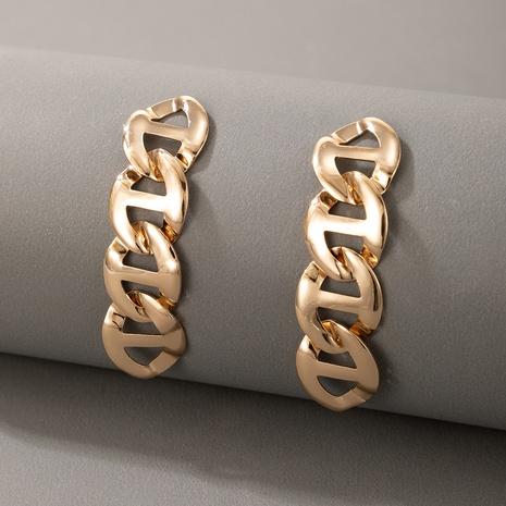 boucles d'oreilles en chaîne en métal de style nouveau style simple NHGY348856's discount tags