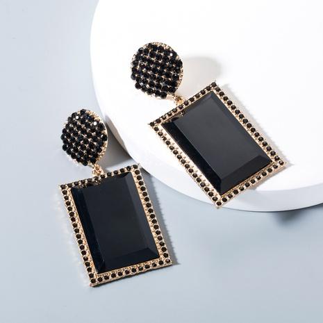 Pendientes salvajes geométricos de diamantes exagerados de nuevo estilo de moda NHLN348842's discount tags