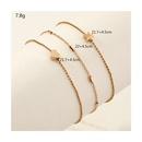 Bracelet de cheville en alliage multicouche en forme de coeur strass  la mode en gros NHNZ348063