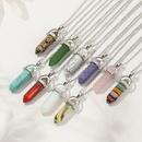 Fashion turquoise hexagon alloy necklace wholesale NHNZ348080