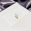 simple inlaid pearl copper gold plated ear bone clip  NHCG348117