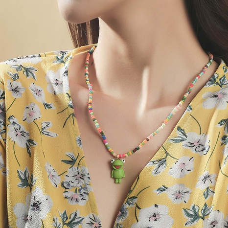 Bohemian animal frog miyuki bead necklace wholesale NHLA348152's discount tags