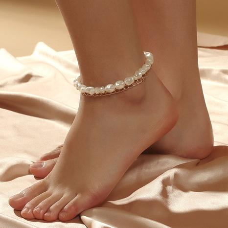 Mode mehrschichtige Perlenlegierung Fußkettchen Großhandel NHLA348153's discount tags