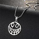 Fashion Skull Hollow Clown Face Alloy Necklace NHGO348169