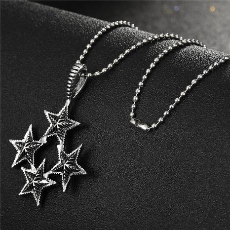 Collier en alliage étoile à cinq branches connecté à la mode NHGO348174's discount tags