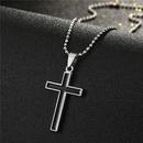 Fashion big cross alloy necklace wholesale NHGO348177