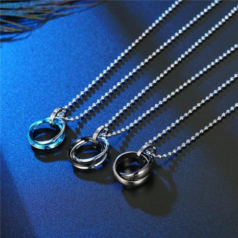 Collier en alliage de cercle croisé de mode en gros NHGO348180's discount tags