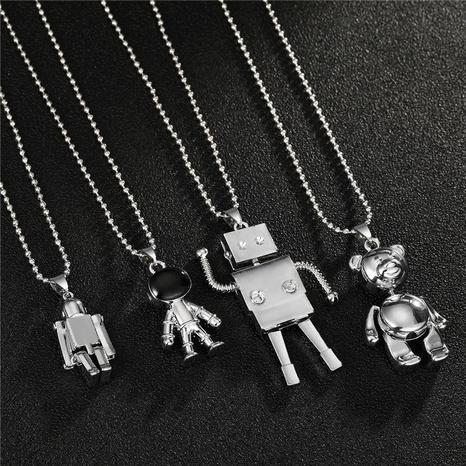 Collier en alliage de mode ours astronaute en gros NHGO348181's discount tags