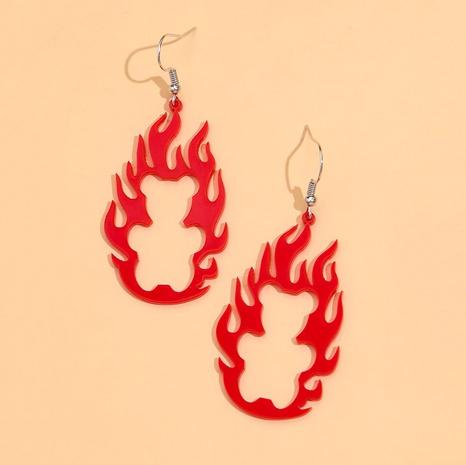 Boucles d'oreilles créatives rétro flamme creuse en acrylique NHPV348369's discount tags