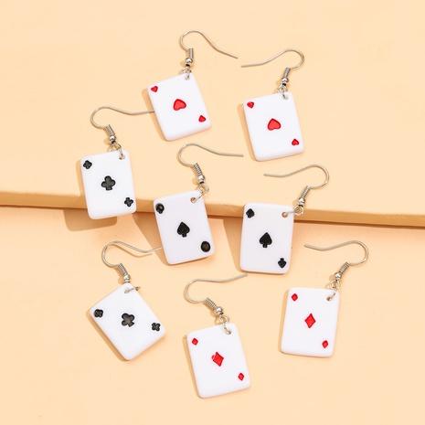 Boucles d'oreilles en résine géométrique de carte de mode en gros NHPV348372's discount tags