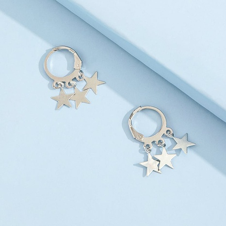 boucles d'oreilles courtes étoile à cinq branches et pompon simple NHPV348371's discount tags