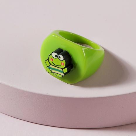 Anillo de resina de cactus de hongo de rana de color caramelo de moda NHLU348401's discount tags