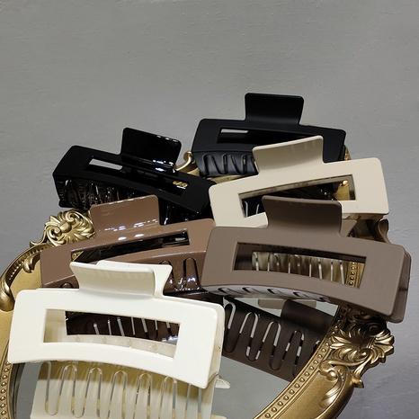 Pinza de pelo de resina geométrica de color sólido coreano NHAR348470's discount tags