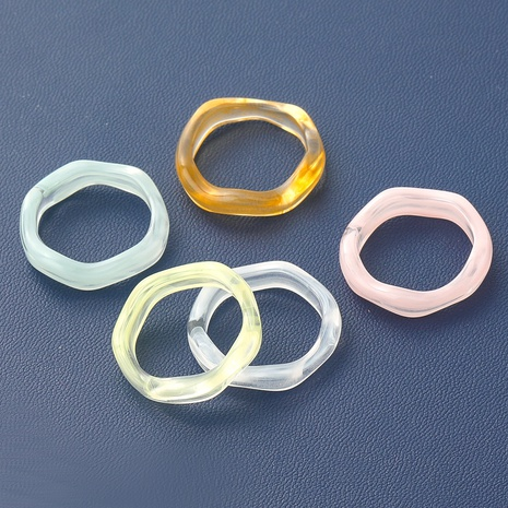Fashion geometric resin rings wholesale NHJE348528's discount tags