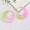Fashion Gradient Color Geometric C Shape Acrylic Earrings NHNZ348555