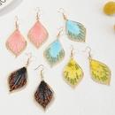 Fashion creative weaving thread water drop alloy earrings wholesale NHNZ348560