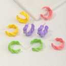 Fashion irregular Cshaped Wave Candy Color Earrings  NHNZ348571