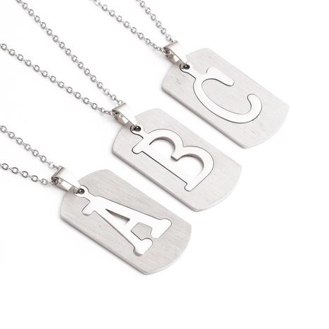 Mode Englisch Brief Titan Stahl Halskette Großhandel NHYL348621's discount tags