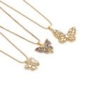 Collier zircon incrust de cuivre couleur papillon en gros NHYL348800