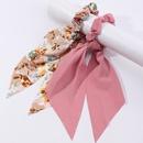 New fashion korean style triangle printing hair scrunchies set NHAU349245