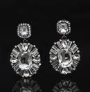 Baroque style zircon flash crystal stud earrings  NHHER348956