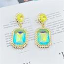 Fashion zircon geometric full diamond pearl earrings  NHHER348957