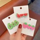 Korea new fashion cute style fruit hairpin NHCQ348972