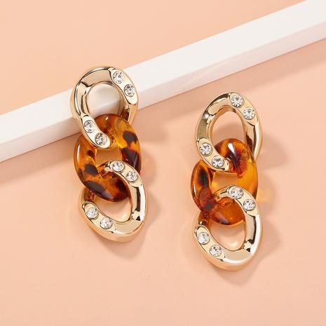 Pendientes de borla larga de diamantes de estilo simple de nueva moda NHAN349007's discount tags